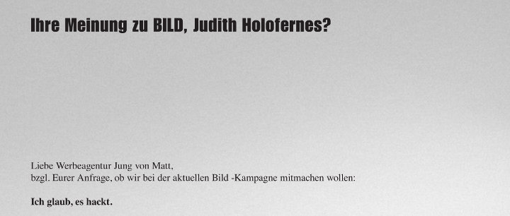 Ausschnitt BILD-Anzeige Holofernes