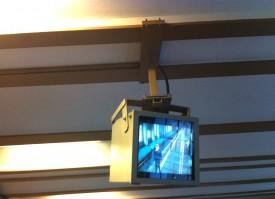 Berlin underground surveillance screen
