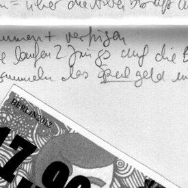 Handschriftliche Notizen, Ausschnitt