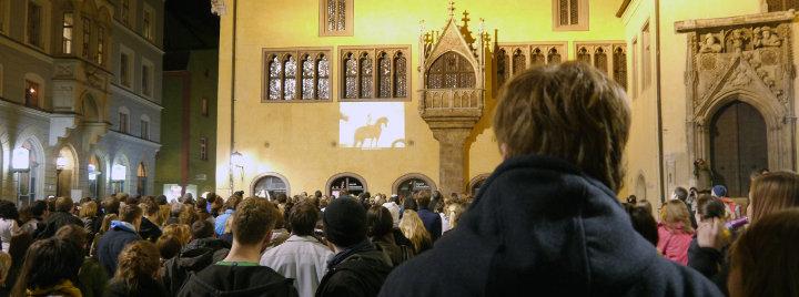 Zuschauer in Regensburg